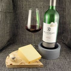 This cute little cheese board with a wire cutter that has a wooden mouse at the end is coupled with our solid soap stone wine bottle holder various Christmas Gift Sets, Wine Bottle Holders, Wine Cheese, Soapstone, Little Gifts, Just For You, Wire, Canning, Board