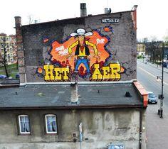 Lucky Luke Art Lucky Luke, Yarn Bombing, Stencil Art, Nerd Geek, Street Art Graffiti, Animation Series, Street Artists, Cool Art, Awesome Art