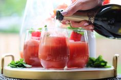 Watermelon Mint Prosecco Punch |