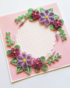 A Beautiful Handmade Birthday Card - Size of card: 145x145mm. - The card is packaged carefully to ensure a safe delivery. -Each card is with card box with ribbon. Each card is made individually so the card you receive may differ very slightly from the photograph. I ship the quilling