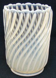 Victorian Pattern Glass Celery Vase Store   Beatty Swirl by the J. Beatty Glass co.  clear/opalescent 1888