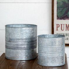 Tin Can Planters, Set 0f 2