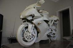 Cardboard Yamaha-R1 (2007) - handmade