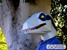 Máscara de dinosaurio Velociraptor usted por TetraVariations