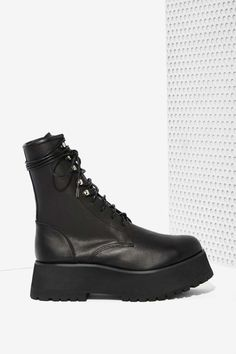 UNIF Armada Leather Boot | Shop Shoes at Nasty Gal!