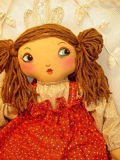 Amy. handmade cloth doll by Renata Diasti, via Flickr