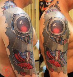 Biomechanics tattoos - BeatTattoo.com 3d Tattoos, Best Sleeve Tattoos, Sleeve Tattoos For Women, Tattoo Sleeve Designs, Tattoo Designs Men, Cool Tattoos, Biomech Tattoo, Biomechanical Tattoo Design, Mechanic Tattoo