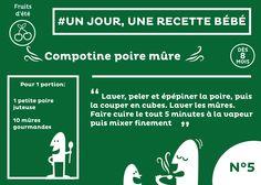 #recette #bébé du jour #5 : Une compotine poire et mûre. Bon appétit et bonne diversification =)