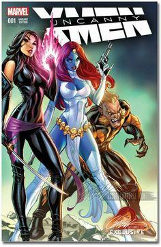 Psylocke, Mystique & Sabretooth by J Scott Campbell