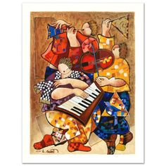"""""""Ensemble"""" Limited Edition Serigraph by Dorit Levi Numbered and Hand Signed New 