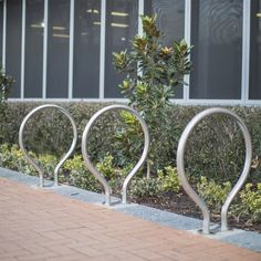 The Cycla Proline series is our most refined collection of bicycle racks with a bolt-down base plate.  Available in a range of high-grade finishes, the Cycla Proline Bike Parking Rack offers a robust yet elegant solution for outdoor architectural settings and public spaces.  Product features  - Capacity to park 2 bikes per rail  - Heavy duty construction  - Bolt-down surface mounted design Bike Parking Rack, Bicycle Rack, Bike Locker, Outdoor Bike Racks, Best Bike Rack, Class B, Public Spaces, Lockers, Surface