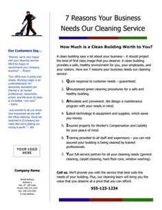 Housekeeping log detailed cleaning service tracking printable cleaning service flyer 7 reasons your business needs our cleaning service fandeluxe