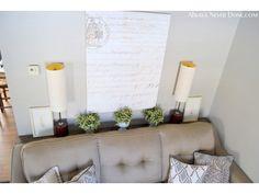 DIY Slim Sofa Table