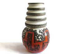 XXL Floorvase West German Pottery Vase Scheurich by 35Orangestreet