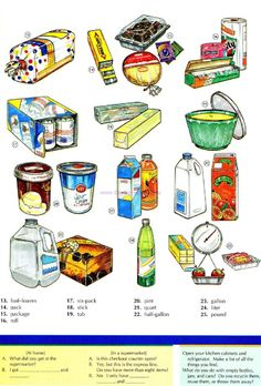 47 - CONTAINERS AND QUATITIES B - Picture Dictionary - English Study…