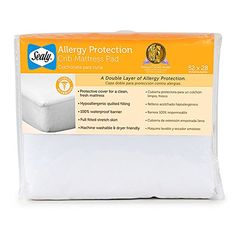 Sealy Allergy Protection Crib Mattress Pad - http://organiccribmattress.info/sealy-allergy-protection-crib-mattress-pad/