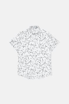 Esquina Button Down Marks Short Sleeve Shirt, Marks Print