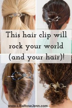 Gorgeous and functional hair clips to rock your world and your hair   Lilla Rose   hair accessories   hair styles