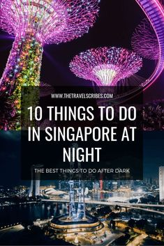 The Top 10 things to do in Singapore at night. As compiled by locals, this is the best list of things to do after dark, when the sun goes down! Best Places In Singapore, Singapore Things To Do, Singapore Travel Tips, Singapore Itinerary, Visit Singapore, Slow Travel, Asia Travel, Croatia Travel, Hawaii Travel