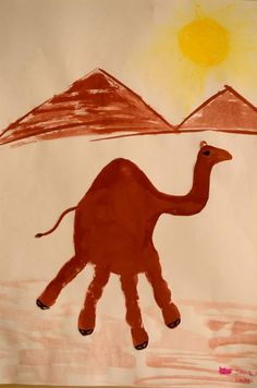 How to Make a Camel Handprint...