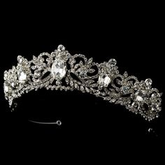 just gorgeous! Ornate Antique Silver Wedding and Quinceanera Tiara - Affordable Elegance Bridal -
