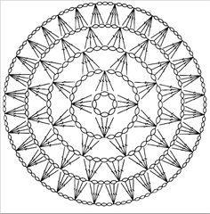 Crochet Dreamcatcher Pattern, Crochet Doily Diagram, Crochet Motif Patterns, Crochet Mandala Pattern, Crochet Circles, Form Crochet, Granny Square Crochet Pattern, Crochet Chart, Crochet Lace