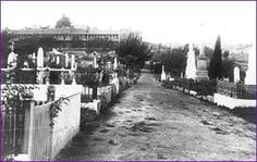 Charles St.Cemetery in Launceston,Tasmania in 1880. •State Library of Tasmania•