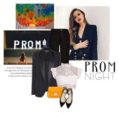 """ I didn't wear killer heels, or an over-the-top feminine dress; my hair was down, my make up was dramatic and I looked damn good in a suit "" by crazydita ❤ liked on Polyvore featuring Acne Studios, Tom Ford, Loeffler Randall, Jimmy Choo and PROMNIGHT"