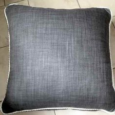 Thunder Floor Cushion great to snuggle up on whilst reading a book or watching a film. Made from Ian Mankin fabric as a size of 24 inches square Large Floor Cushions, Large Sofa, Shades Of Grey, Thunder, Throw Pillows, Flooring, Film, Reading, Book