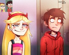 Star vs. the Forces of Evil // Star and Marco awesome faces
