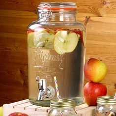 Barrel Beverage Dispenser with Stand 5ltr | bar@drinkstuff Drinks Dispenser, Barrel Drinks Dispenser, Glass Drinks Dispenser, Mason Jar Drinks Dispenser: Amazon.co.uk: Kitchen & Home