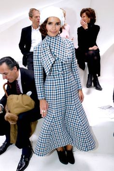 All of the best-dressed attendees spotted front row at Paris Couture Week. Miroslava Duma at Christian Dior.