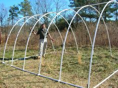 Cheap PVC greenhouse project, aka chicken yard - great step-by-step!