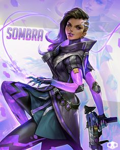Overwatch: Sombra Fan Art - Created by Jeremy Chong