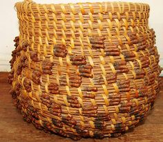 Old Native American Pine Needle Basket Native American Baskets, Native American Pottery, Native American Indians, Native Americans, Pine Needle Crafts, Brooms And Brushes, Indian Baskets, Pine Needle Baskets, Pine Needles