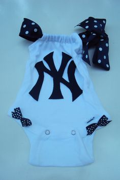 New York Yankees Baseball  Onesie Girls Baby Girls by DaintyBoTeek, $20.00