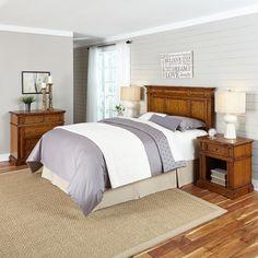 Americana Panel 4 Piece Bedroom Set Size: Queen/Full, Finish: Oak - http://delanico.com/bedroom-sets/americana-panel-4-piece-bedroom-set-size-queenfull-finish-oak-589677095/