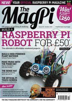The October issue of the official Raspberry Pi magazine has arrived. Get The MagPi in print or digital today!