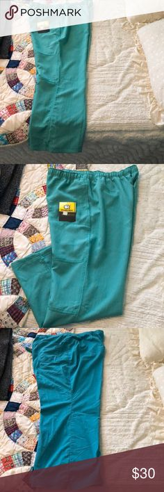 66af0039e033f Landau and Good Cheer pant uniforms One pair is teal color pockets on front  and sides