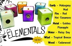 Elementals Soy Candles all come with wooden wicks that crackle like a campfire when they burn.