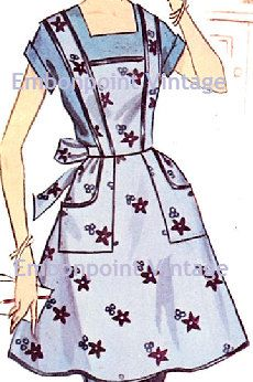 Plus Size (or any size) Vintage Apron Pattern - PDF - Pattern No 110 Sylvia Aprons Vintage, Vintage Sewing, Vintage Housewife, Cute Aprons, Sewing Aprons, Domestic Goddess, House Dress, Couture, Vintage Patterns