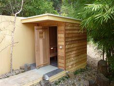 arched sauna - Google Search Barrel Sauna, Saunas, Garage Doors, Shed, Outdoor Structures, Google Search, Outdoor Decor, Home Decor, Decoration Home