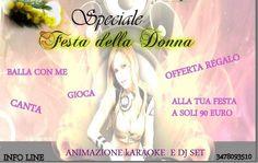Offerta speciale festa della donna con dj e karaoke