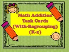 This file contains 20 Math Task Cards With Regrouping 2-Digit Story problems which will enable students to use their problem solving skills.  These task cards can be used in a math center or as well as a form of assessment to ensure that all students have mastered their regrouping skill.Thank you for you purchase.