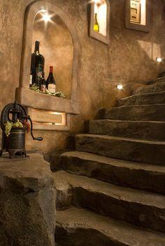 Wine Cellar - traditional - wine cellar - seattle - by Tami Jones Interior Design Seo And Sem, Wine Lovers, Home Wine Cellars, Wine Cellar Design, Toscana Italia, Stone Stairs, Wine House, In Vino Veritas, Tuscan Style