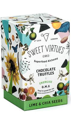 Sweet Virtues Chocolate Truffles - use cacao, lucuma, carob, maca, ginseng and coconut oil for the health-conscious chocolate-fiends.