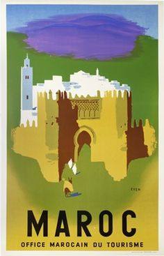 Morocco _________________________ #Vintage #Travel #Poster