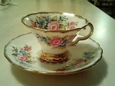Vintage Hazel Sharon Bone China Tea Cup & Saucer made in England