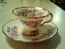 Vintage Hazel Sharon Bone China Tea Cup & Saucer made in England