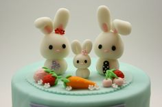 Lovely Rabbit Family Cake Topper. $60.00, via Etsy.